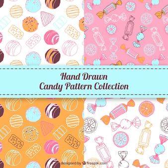 Kolekcja wzorów cukierków w różnych kolorach