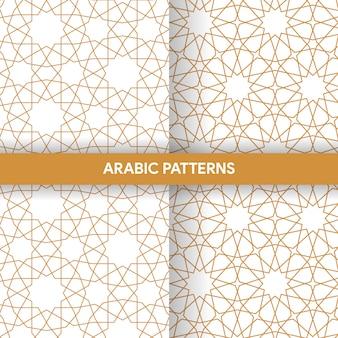Kolekcja wzorów dekoracyjnych ornament w stylu arabskim islamskim