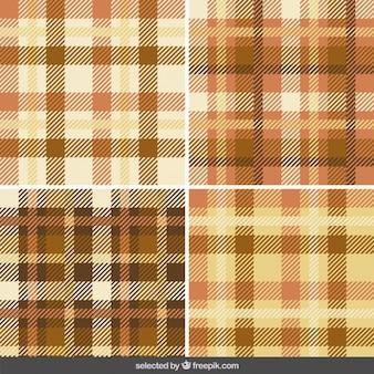 Kolekcja wzorów gingham