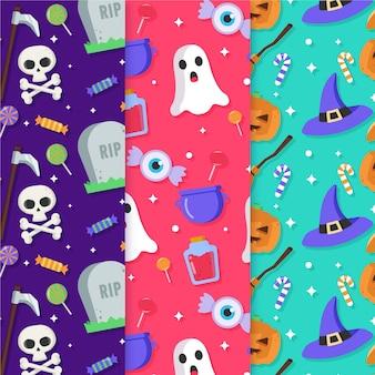 Kolekcja wzorów halloween