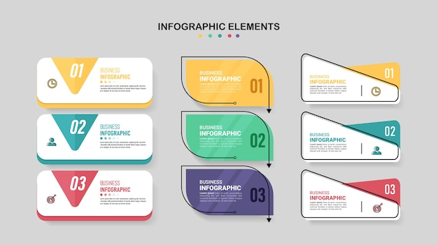 Kolekcja wzorów infografiki