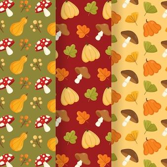 Kolekcja wzorów jesiennych
