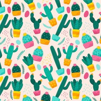 Kolekcja wzorów kaktusów