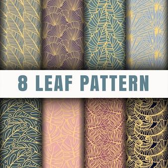 Kolekcja wzorów konturów liści