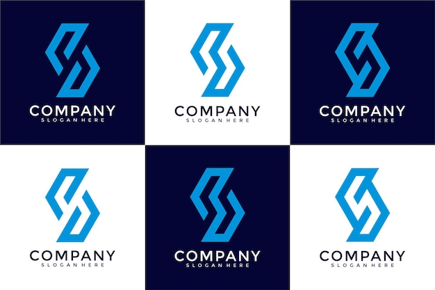 Kolekcja wzorów logo streszczenie litery s