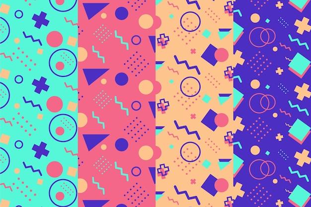 Kolekcja wzorów memphis