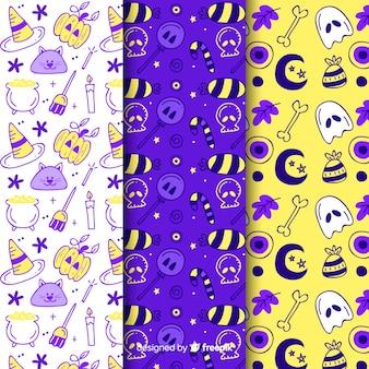 Kolekcja wzorów na upiorne przyjęcie halloweenowe