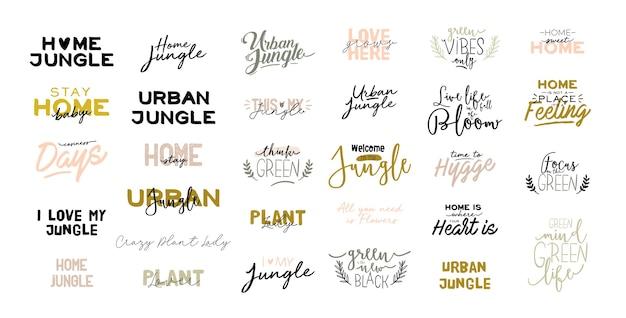 Kolekcja wzorów napisów