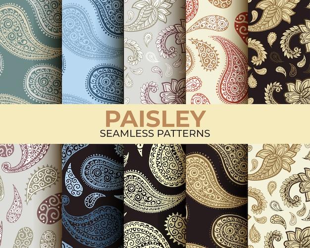 Kolekcja wzorów paisley