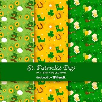 Kolekcja wzorów patrick's day