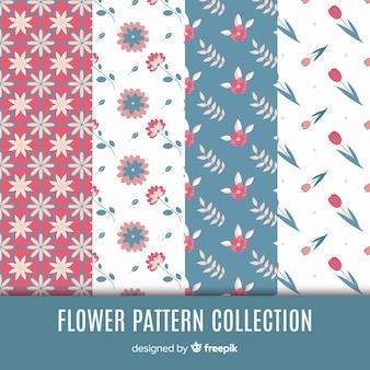 Kolekcja wzorów płaskich kwiatów