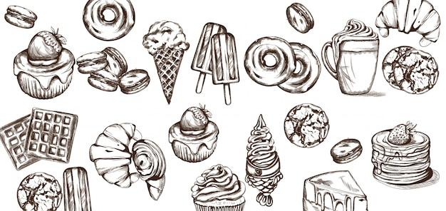 Kolekcja wzorów słodyczy