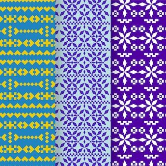 Kolekcja wzorów songket