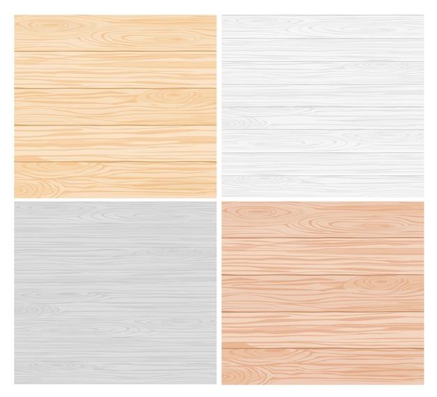 Kolekcja wzorów tekstury drewna, tapety, dekoracja powierzchni. szare, brązowe poziome deski
