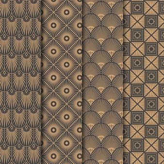 Kolekcja wzorów w stylu art deco