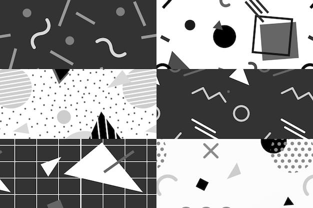 Kolekcja wzorów w stylu memphis