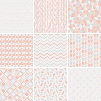 Kolekcja wzorów wektorowych ilustracji