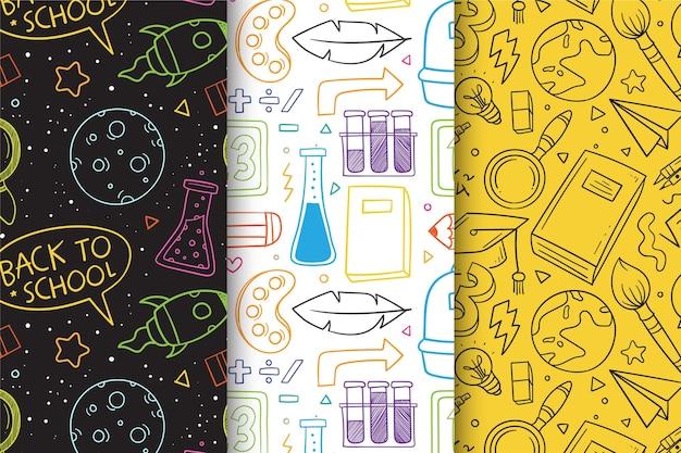 Kolekcja wzorów z powrotem do szkoły