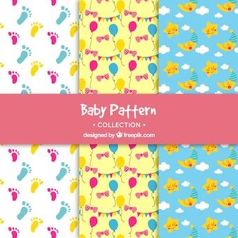 Kolekcja wzory dla dzieci w stylu wyciągnąć rękę