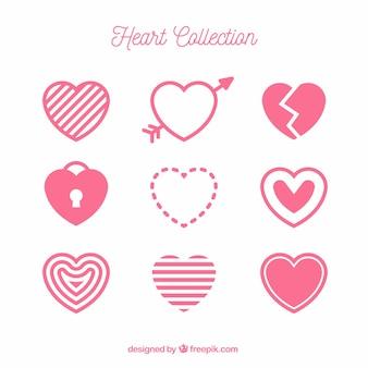 Kolekcja z płaskim sercem