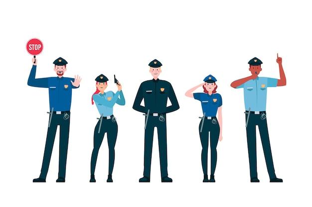 Kolekcja zawodu policji