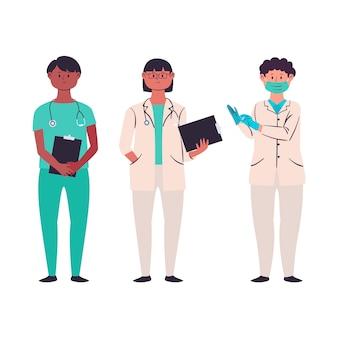 Kolekcja zespołu pracowników służby zdrowia