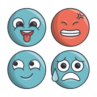 Kolekcja zestaw emotikonów differents expression