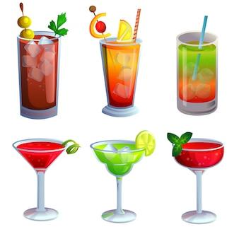 Kolekcja zestaw napojów alkoholowych