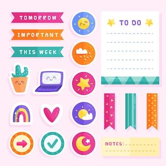 Kolekcja zestaw notatników planner