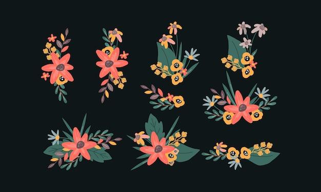 Kolekcja zestaw wieniec kwiatowy