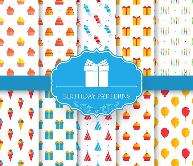 Kolekcja zestaw wzór szczęśliwy urodziny