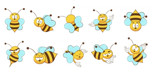 Kolekcja zestawu pszczół