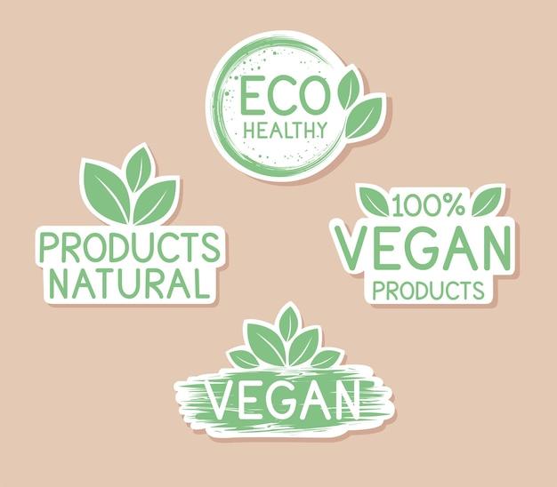 Kolekcja zielonych odznak