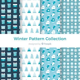 Kolekcja zimowy wzór płaski