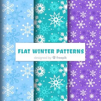Kolekcja zimowych wzorów