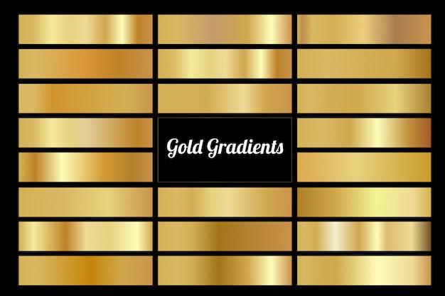 Kolekcja złota efekt gradientu