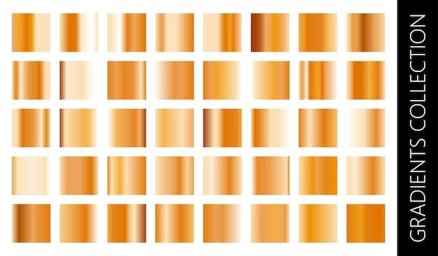 Kolekcja złota metalowego gradientu