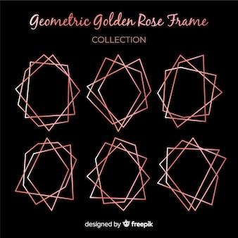 Kolekcja złota rama geometryczna złota