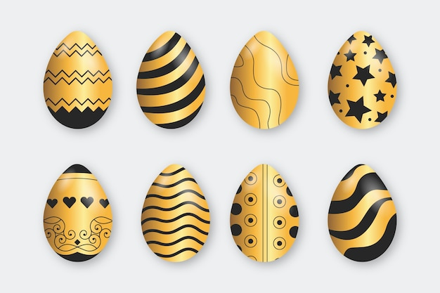 Kolekcja złote jajka wielkanocne