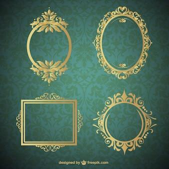 Kolekcja złote ramki