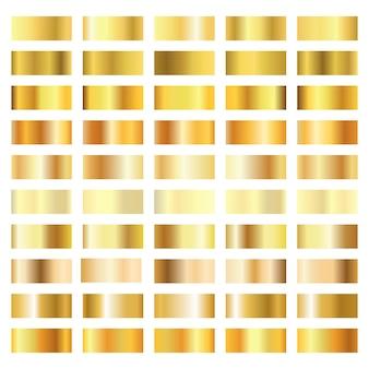Kolekcja złoty gradient na białym tle