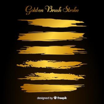 Kolekcja złoty pociągnięcie pędzla