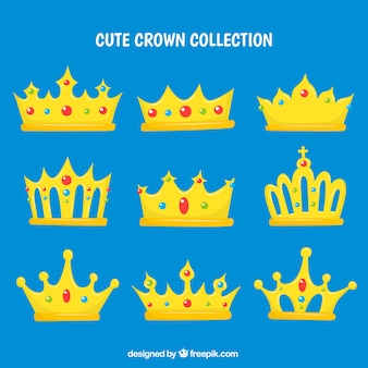 Kolekcja złotych koron
