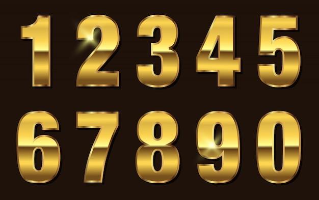 Kolekcja złotych nubersów
