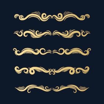 Kolekcja złotych ozdób