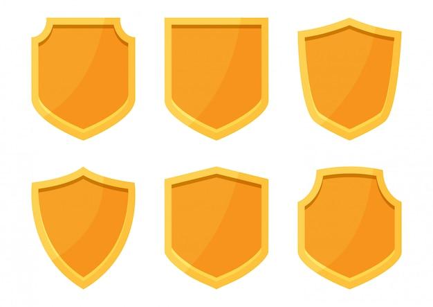 Kolekcja złotych tarcz. ilustracja