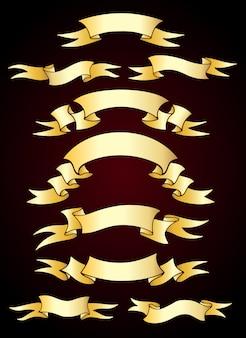 Kolekcja złotych wstążek