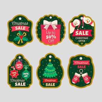Kolekcja znaczków świątecznych sprzedaży płaska konstrukcja