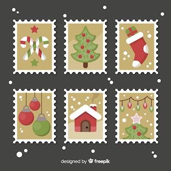 Kolekcja znaczków świątecznych