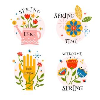 Kolekcja znaczków wiosennych